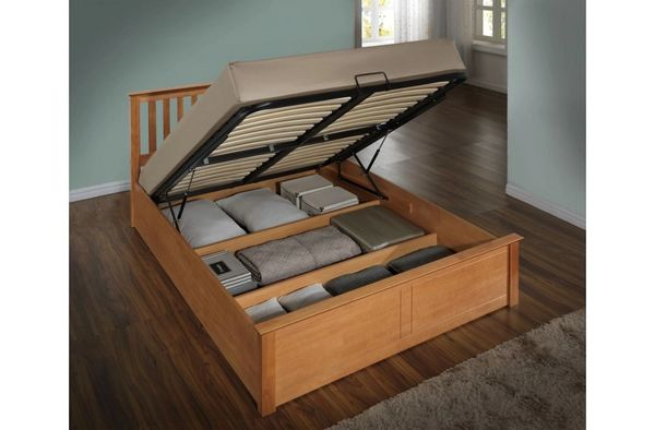Phoenix oak ottaman bed frame only