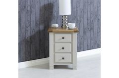 Woodstock 3 Drawer Bedside oak or grey