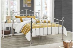 victoria bed frame siler/black nickel
