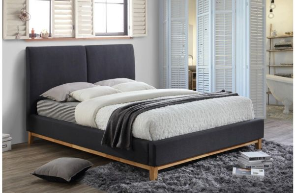 helsinki faux leather bed frame