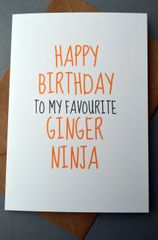 FAVOURITE GINGER NINJA