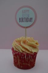 HAPPY EFFIN BIRTHDAY CUPCAKE TOPPERS
