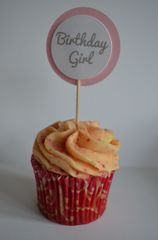 BIRTHDAY GIRL CUPCAKE TOPPERS