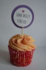 SAME WILLY FOREVER CUPCAKE TOPPERS