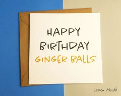 HAPPY BIRTHDAY GINGER BALLS