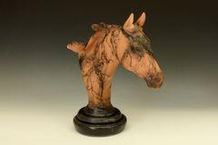 Terra Cotta Large Quarter Horse Bust