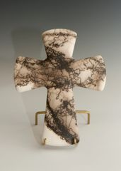Horse Hair Fired Cross