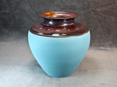 Copper_Teal Traditional Vase