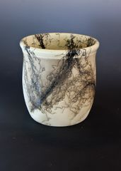 Horse Hair Canister with Glazed Interior