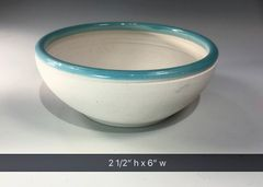 Turquoise rimmed bowl #3