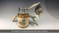 Hot Apple Pie Candle and Horse Hair Ornament