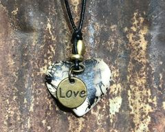 Horsehair Heart Pendant with Love Charm