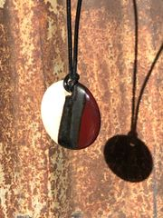 Dark Red And Bronze Pendant