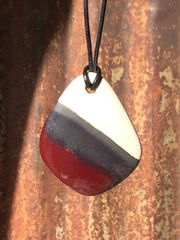 Black Ice and Red Pendant