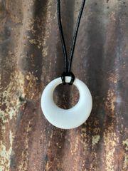 Circle White Pendant