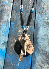Blue Earth - Horse Hair necklace