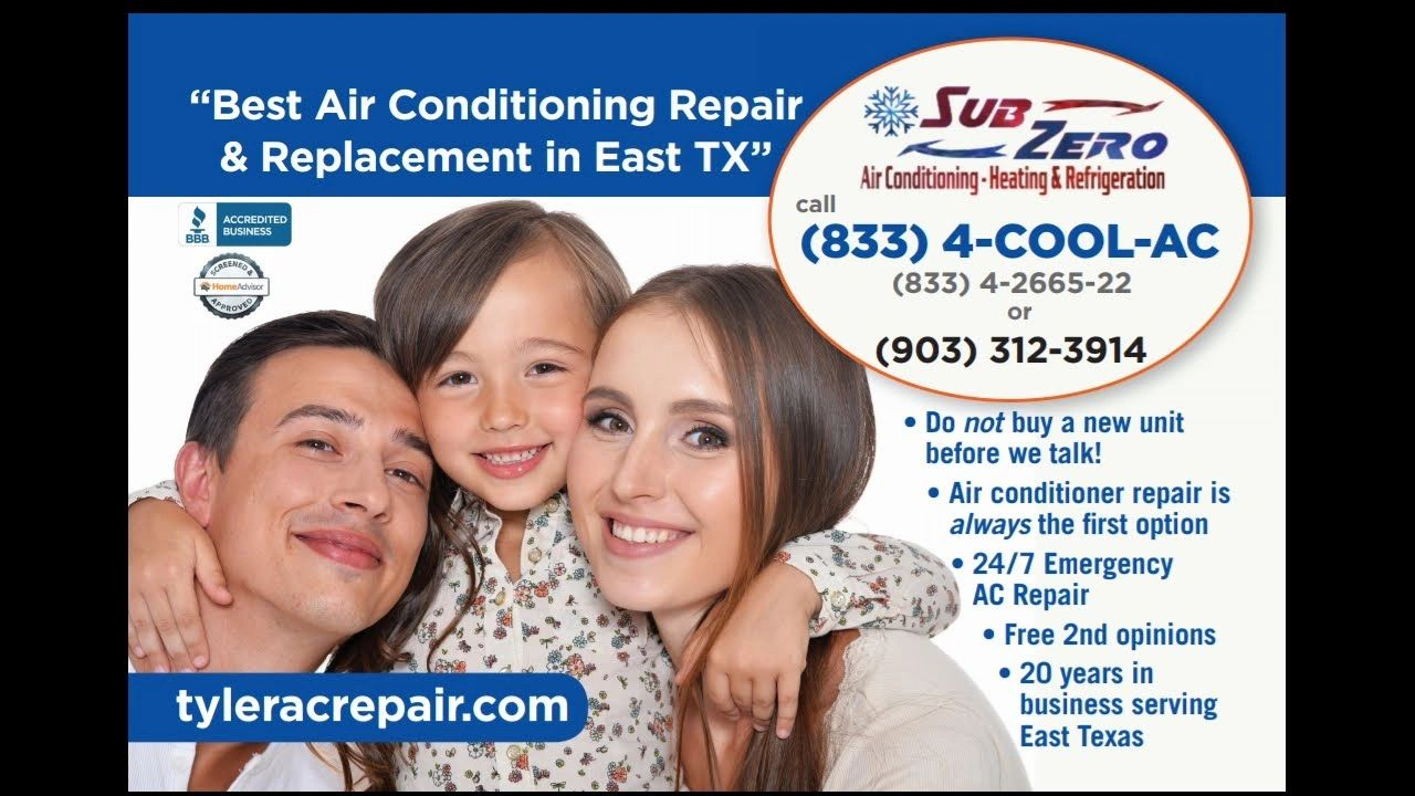 best ac repair near me, best air conditioning contractors near me, tyler tx hvac, east texas A/C
