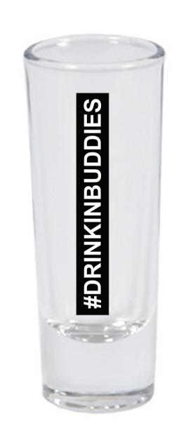 #DRINKINBUDDIES 3 oz Shot Glass White Ceremic