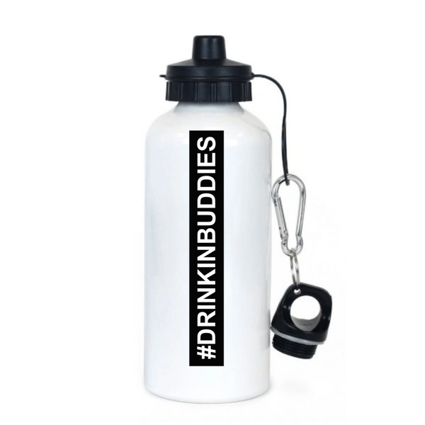 #DRINKINBUDDIES ALUMINUM WATER BOTTLE