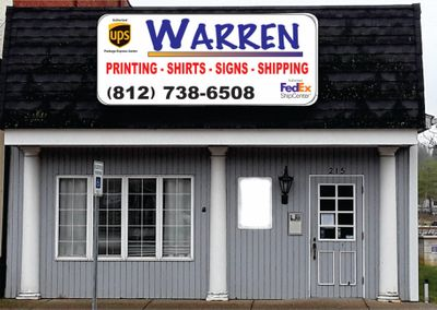 Warren Printing Shirts, Signs & Shipping