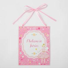 I Believe in Fairies Plaque