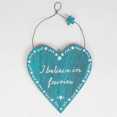 I Believe In Fairies Heart Plaque