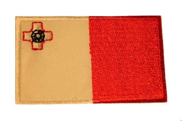 MALTA Country Flag Iron - On PATCH CREST BADGE