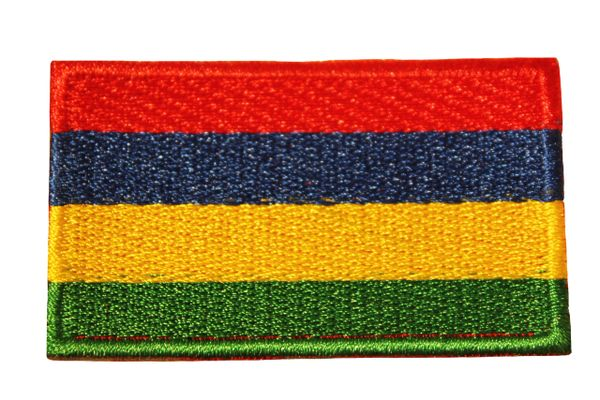 MAURITIUS Country Flag Iron - On PATCH CREST BADGE