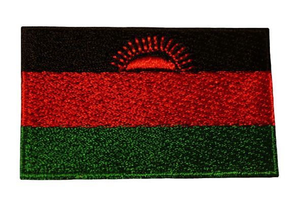 MALAWI Country Flag Iron - On PATCH CREST BADGE