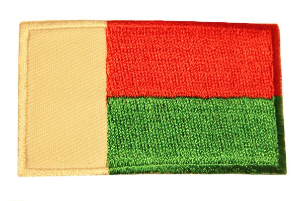 MADAGASCAR Country Flag Iron - On PATCH CREST BADGE