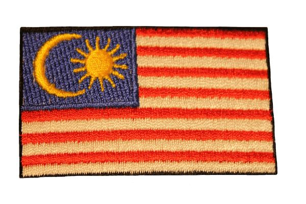 MALAYSIA Country Flag Iron - On PATCH CREST BADGE