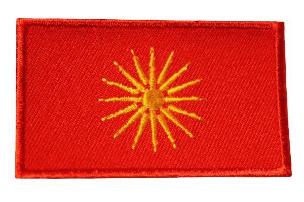 MACEDONIA Country Flag Iron - On PATCH CREST BADGE