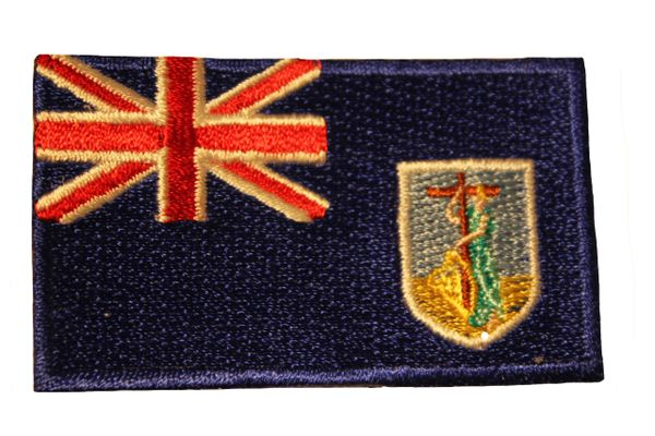 MONTSERRAT Country Flag Iron - On PATCH CREST BADGE