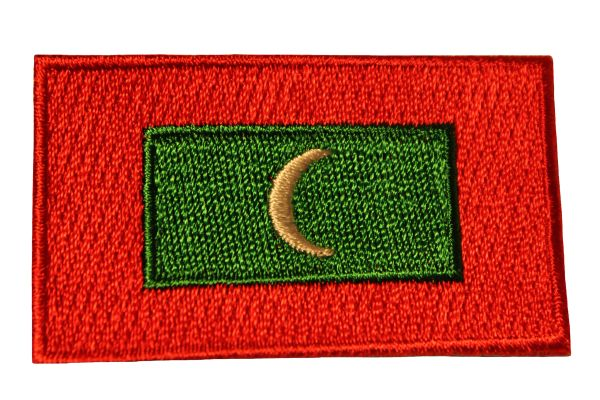 MALDIVES Country Flag Iron - On PATCH CREST BADGE
