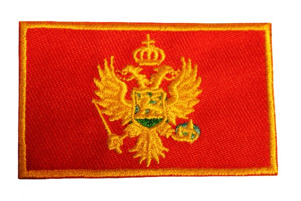 MONTENEGRO Country Flag Iron On PATCH CREST BADGE