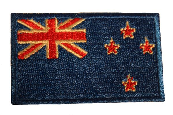 NEW ZEALAND Country Flag Iron On PATCH CREST BADGE