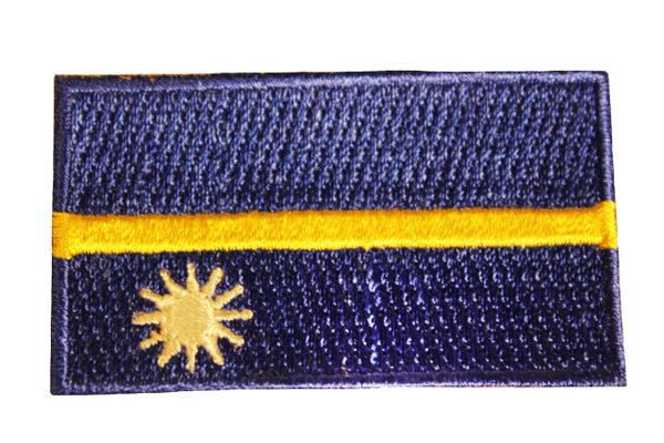 NAURU Country Flag Iron On PATCH CREST BADGE
