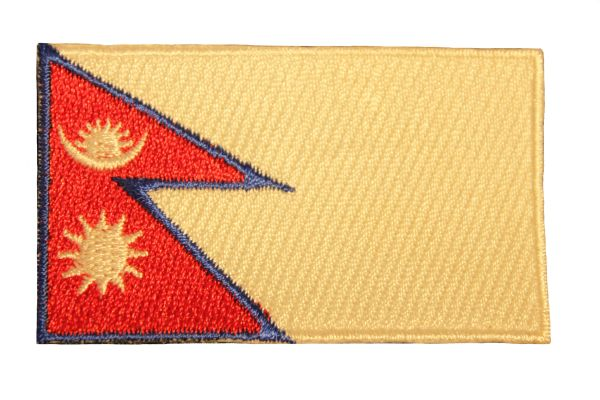 NEPAL Country Flag Iron On PATCH CREST BADGE