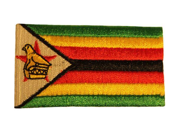 ZIMBABWE Country Flag Iron - On PATCH CREST BADGE
