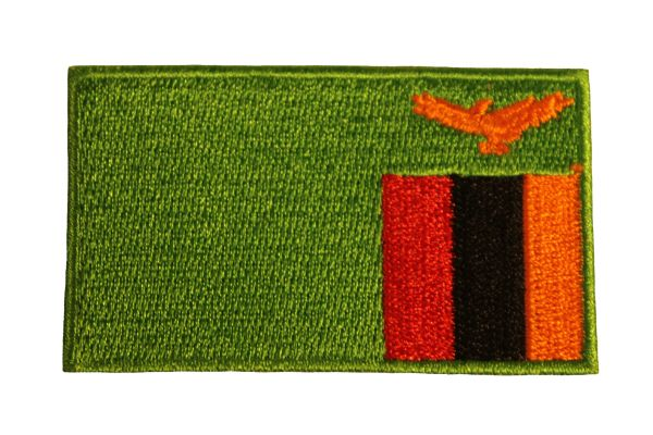 ZAMBIA Country Flag Iron - On PATCH CREST BADGE