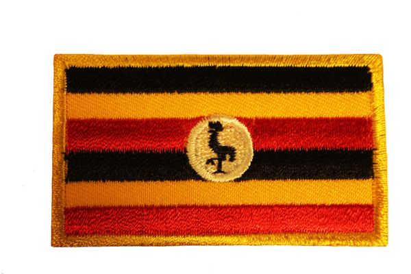 UGANDA Country Flag Iron - On PATCH CREST BADGE