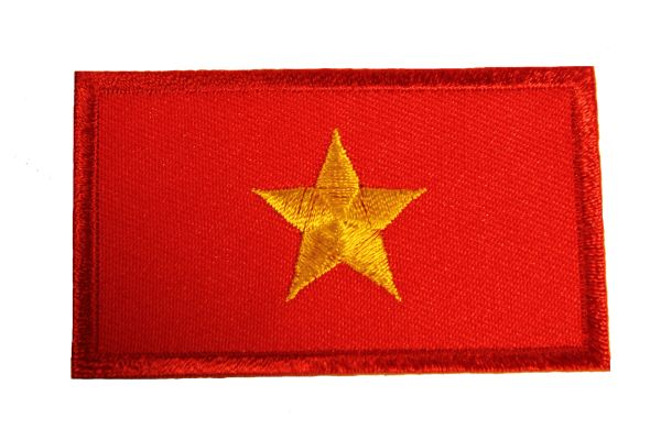 NORTH VIETNAM Country Flag Iron - On PATCH CREST BADGE
