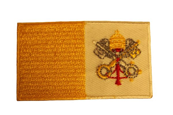 VATICAN Country Flag Iron - On PATCH CREST BADGE