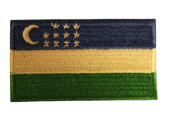UZBEKISTAN Country Flag Iron - On PATCH CREST BADGE