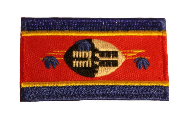 SWAZILAND Country Flag Iron - On PATCH CREST BADGE