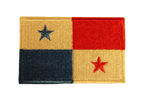 PANAMA Country Flag Iron - On PATCH CREST BADGE
