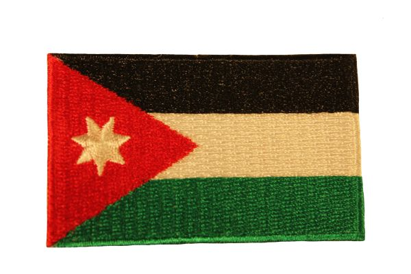 JORDAN Country Flag Iron - On PATCH CREST BADGE
