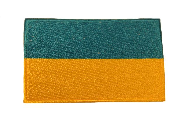 UKRAINE Plain Country Flag Iron - On PATCH CREST BADGE