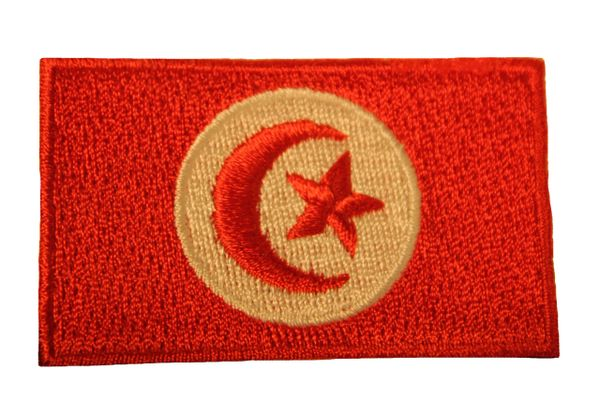 TUNISIA Country Flag Iron - On PATCH CREST BADGE