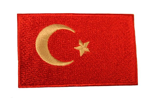 TURKEY Country Flag Iron - On PATCH CREST BADGE